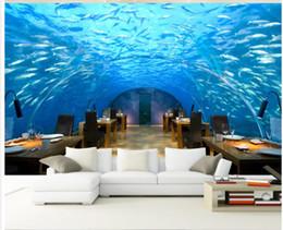 Wholesale Underwater Wall Murals - Underwater World Corridor TV Backdrop mural 3d wallpaper 3d wall papers for tv backdrop
