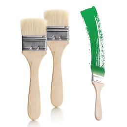 Deutschland Langhaarige Malerei Pinsel mit Holzschaft, flache Pinsel Malerei Pinsel mit festen und hohe Qualität Versorgung