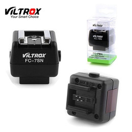 Wholesale Fc Adapters - Viltrox FC-7SN Wireless Flash Hot Shoe Adapter Optical Slave Trigger PC Sync For Canon Nikon Pentax flash to Sony Minolta Camera