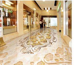Wholesale Plastic Tile Flooring - Wholesale- Marbled mosaic tiled floors Custom Photo self-adhesive 3D floor Custom Photo self-adhesive 3D floor PVC waterproof floor