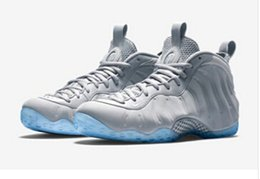 Wholesale Penny Hardaway Basketball Shoes - New Arrived Suede Wolf Grey White mens pro penny hardaway paranorman trainers basketball shoes cheap men shoes Free Drop shipping