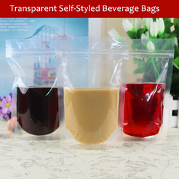 Wholesale Thick Plastic Ziplock Bags - Wholesale- Thick transparent ziplock Beverage bags Can be packaged drinks, juices, tea, coffee 13cm*20cm Thicken Packaged for sale