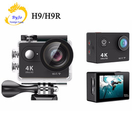 "Wholesale Underwater Waterproof Camera - H9   H9R Action camera Ultra HD 4K   25fps WiFi 2.0"" 170D underwater waterproof Helmet Camera camera Sport cam"