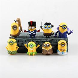 Wholesale Good Cartoon People - Lilytoyfirm Hot 8pcs Set America Anime Movie Cartoon Cute Small Yellow People Modle Action Figure Toys