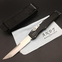 Wholesale finishing aluminum - Customized knife Andy 9046 TUSH 6061-T6 aluminum(CNC finish) Satin Plain Tactical Knife Knives Halo PROTOTYPE Makora W