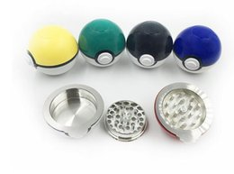 Wholesale Part Box Stainless - Latest Pokeball Grinder Herb Grinders Metal Zinc Alloy Plastic Grinder 3 Parts with Display Box DHL Free