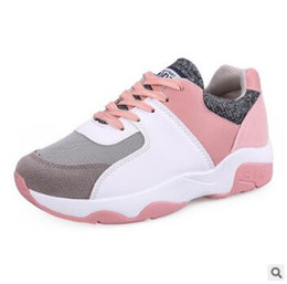 Wholesale High Sport Shoes Ladies - 2017 spring new Korean version of the thick high-end running shoes ladies canvas shoes with casual students sports shoes