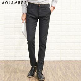 Wholesale Top Mens Business Suits - Wholesale- Men's Casual Trousers 2016 Autumn New Top Quality Suit Pants Fashion Classic Slim Fit Business Mens Straight Dress Pants 28-38