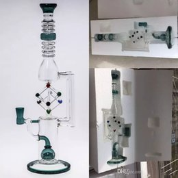 Wholesale Good Recycling - Tall 35cm Glass Bongs Water Pipes Joint Size 14.4 mm perc perclator Recycle Oil Rigs Glass Bongs Good Packaging Hookahs Free Shipping