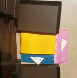 Wholesale French Business Letters - wholesale Classic Design Casual Credit leather card set card package french tide Card ID Holder Ultra Slim Wallet Packet gy Bag with box GM