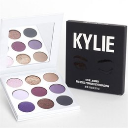 Wholesale Cosmetic Pressed - Newest Kylie Jenner Fall Collection The Purple Palette Launching 9colors Pressed Powder Eyeshadow Kyshadow by Kylie cosmetics free ship