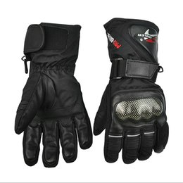 Wholesale Motorcycle Racing Accessories - Wholesale- Motorcycle Gloves Winter Warm Waterproof Windproof Protective Racing Gears Accessories Guantes Moto Luvas Alpine Motocross Stars