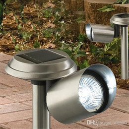 Wholesale Landscape Spot Light Led Bulb - Garden Lawn Lamp Light Solar Power 3 LED Bulb Outdoor Spotlight Landscape Spot Light H2034 with Retail Box