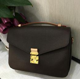 Wholesale Hot Joker - HOT fashion women pu leather Pochette Metis bag messenger bags women print leisure joker shoulder handbag bag
