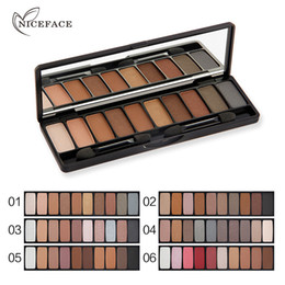 Wholesale Wholesale Full Makeup Brushes Set - NICEFACE Eye Makeup Eyeshadow Waterproof Palette Natural Make up 10 Colors Metallic Eye Shadow Cosmetics Set With Two Brushes 1224010