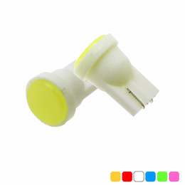 Wholesale Wholesale License Plates - Car Interior LED T10 COB W5W Wedge Door Instrument Side Bulb Lamp Car Light Blue Green red Yellow Pink Source