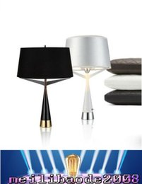 Wholesale Up Study - Fashion Axis S71 Triple Cone Table Lamp Creative Brief Table Stand Light Fabric Metal Lounge Living Room Bedside Light MYY