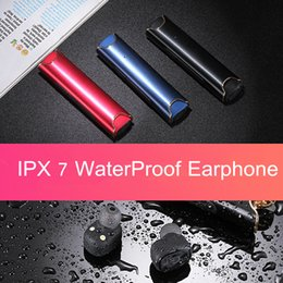 Wholesale Dock For S2 - S2 TWS Twins Bluetooth Earphones IPX7 Waterproof Mini Wireless Bluetooth Stereo Headsets Ear buds With Charging Dock For Universal Phones