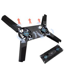 Support pour ordinateur portable en Ligne-Ventilateur rotatif USB ventilateur de refroidissement 2 ventilateurs refroidisseur portable ordinateur refroidisseur