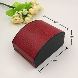 Wholesale Red Pillow Cases Wholesale - Red Black Leather Watch Box Wristwatch PU Leather Storage Boxes Fashion Wrist Watches And Braceletes Gift Boxes Cases with Pillow Wholesale
