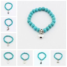 Wholesale Plastic String Beads - Brand new Fashion turquoise hand string hot hand turquoise beads bracelet FB024 mix order 20 pieces a lot Beaded, Strands