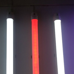 Wholesale T8 Led Light Tube Red - T8 LED Tubes Color Lights 5ft 4ft 3ft 2ft G13 AC85-265V 24-10W 2835SMD 1200mm RGB 12V Adapter Fluorescent Bulbs Direct from China Factory
