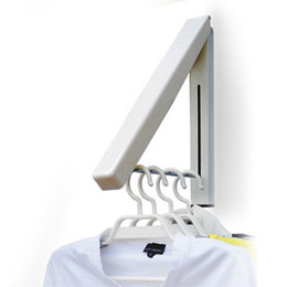 Wholesale Hangs Closet - Clothes Hanger Mini Wall Hang Retractable Concealed Indoor Magic Foldable Cloth Hangers New Drying Water Proof Towel Rack 10wy F R