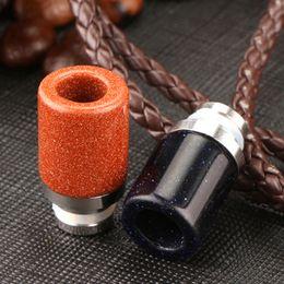 Wholesale bear colour - Flashing Coloured Glaze Drip Tip New Style Wide Bore Drip Tips 510 Thread stellar scintillation High quality Glass Drip Tip DHL Free