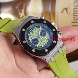 Wholesale Offshore Strap - New Luxury Brand Mens Watch Royal Oak Offshore Limited Edition James Quartz Movement Stopwatch Chronograph Rubber Strap Men Watches 2017