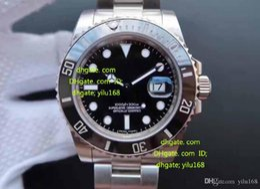 Wholesale Dive Watch Ceramic - 2017 Men's Sport High Quality Brand V7 Mens Automatic Cal.3135 Watch Black Blue Ceramic Bezel Men Gmt Dive 116710 BLNR Wristwatches HOT