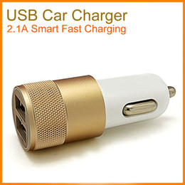 Wholesale Iphone Packaging Uk - For iPhone 8 Universal Dual Port Car Charger Colorful Adapter USB Car Plug 5V 1-2Amp 2 Ports Universal Car Plug No Package