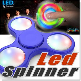 Wholesale Vehicle Toys Wholesale - LED Spinner The Anti-Anxiety 360 Fidget Hand Spinner Helps Focusing Toys Premium Quality EDC Focus Toy for Kids & Adults With Retail Package
