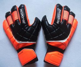 Wholesale professional football - New Soccer Goalkeeper Gloves Finger Protection Professional Men Football Gloves Adults Kids Thicker Goalie Soccer Gloves Fast Shipping