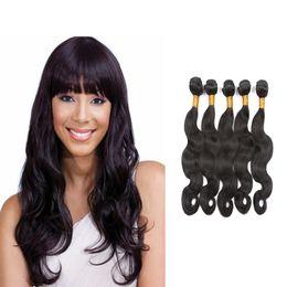 Wholesale Hair Sold Bundles - Top Selling Pervian Virgin Hair Body Wave Grade 8A unprocessed Peruvian Human Hair Extension Virgin Cheap Hair 3 or 4 Bundle 100g