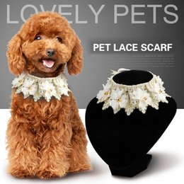 Wholesale Groom Scarf - Dog Bandana Cats Dogs Scarf Bib Cotton Pet Grooming Accessories Bandage Collar Clothes Product for Small Medium Pets Chihuahua