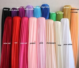 Wholesale Silk Fabric Meter - 70 meter lots Preal Ice Silk Fabric Wedding Party Stage Backdrop Decoration Satin Curtain Gauze Veil Solid Color Cloth Many Colors