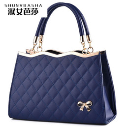 Wholesale Fashion Bag Online - Wholesale- Luxury Color Shop Online Womens Designer Handbags With Logo Famous Brand High Quality Top-handle PU Women Messager Handbags