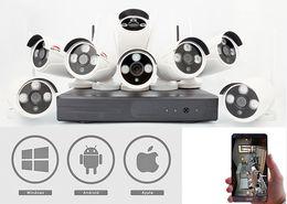 Wholesale Long Range Wireless Camera Kits - 8 channel long range wireless cctv camera system wifi ip camera with nvr kit