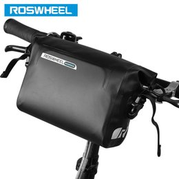 Wholesale Panniers Bike - ROSWHEEL Hot New 3L Bicycle Bag Water Proof MTB Bike Handlebar Front Basket PVC Pannier Pouch Cycling Holdings Accessories