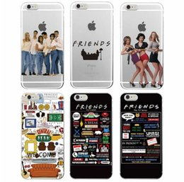 Wholesale Galaxy Tv - Soft tpu Case For Iphone 7 6S 6 Plus 5s 5c Samsung Galaxy S6 S7 edge S8 Friends TV Show Funny Central Perk Park case