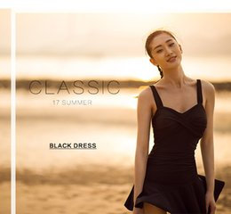Wholesale Thin Model Swimsuit - 2017 summer fashion female models were thin cover belly body skirt type swimsuit size chest gather Slim bikini big size swimsuit running
