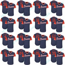 Wholesale Baseball Brother - Atlanta Braves 2017 Players Weekend Nicknames Jersey Freddie Freeman Matt Adams Ender Inciarte Rex Brothers R.A. Dickey Jim Johnson Markakis