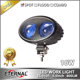 Wholesale Safety Warning Emergency - free shipping 10pcs-blue 10W forklift blue safety work light oval shape industrial truck spot warning emergency work lamp