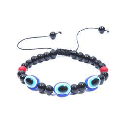 Wholesale Plastic Turkey Charms - Turkey blue eye jewelry hand woven Bracelet Blue Evil Eye Bracelet demon eyes