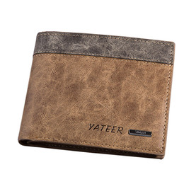 Wholesale Cheap Passport - 2016 men's wallets Leather bifold wallet cheap purse clamp for money men walet leather walllet carteras de marca porte feuille