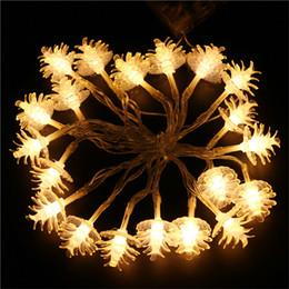 2019 kiefernblumen 2 Mt 20Led Tannenzapfen Dekorative Blumen String Licht Wasserdichte Fee Weihnachten Outdoor Decor Warmweiß Dekoration günstig kiefernblumen