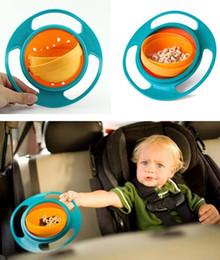 Wholesale Placemat Silicone - Rotating 360 degrees flying saucer bowl gyro bowl does not sprinkle the bowl, the baby learning to train silicone placemat B1149