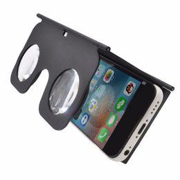 Wholesale- VR Fold Foldable VR Virtual Reality 3D Glasses Cardboard VR Box Phone Holder Suitable For 3.5-6 Inch Smart Mobile Phone cheap fold cardboard от Поставщики складной картон