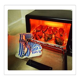 Wholesale Amazing Surfaces - Wholesale Hot Ove Gloves Oven Surface Handler BBQ Hold Gloves Amazing Home Gloves Home Golves Handler Oven For Kitchen Supplies Free DHL
