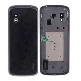 Parties du nexus en Ligne-Nouveau Couvercle Arrière Couvercle de Batterie avec Pièces de Rechange NFC pour LG Nexus 4 E960 DHL gratuit